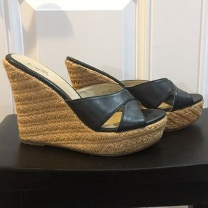 Heeled wedges size 7